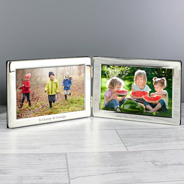 Double 6x4 Silver Photo Frame