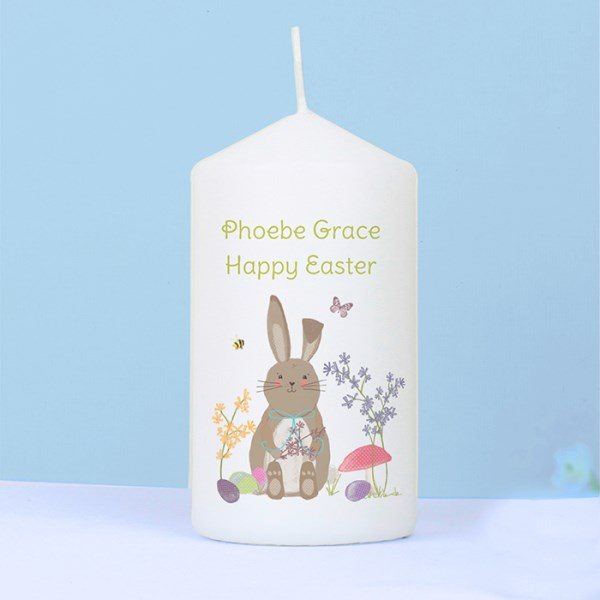 Easter Meadow Bunny Candle
