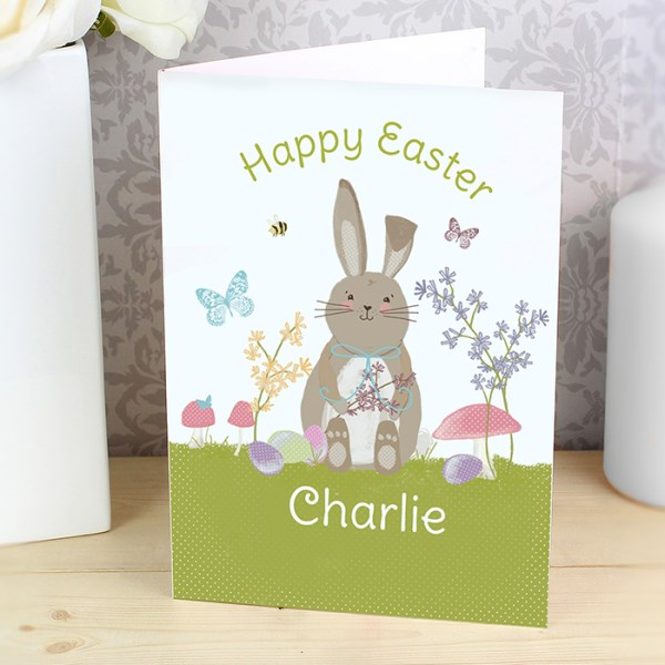 Easter Meadow Bunny Card
