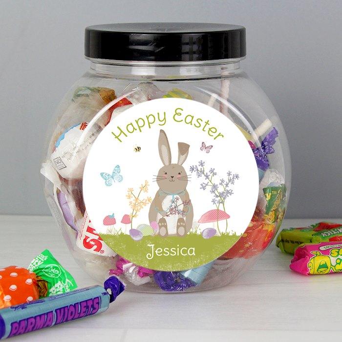 Easter Meadow Bunny Sweets Jar