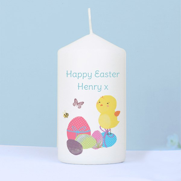 Easter Meadow Chick Candle