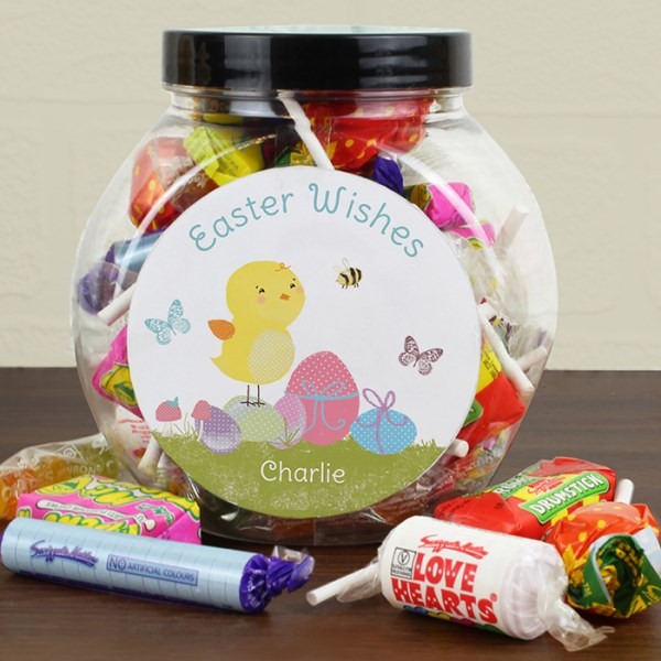Easter Meadow Chick Sweets Jar