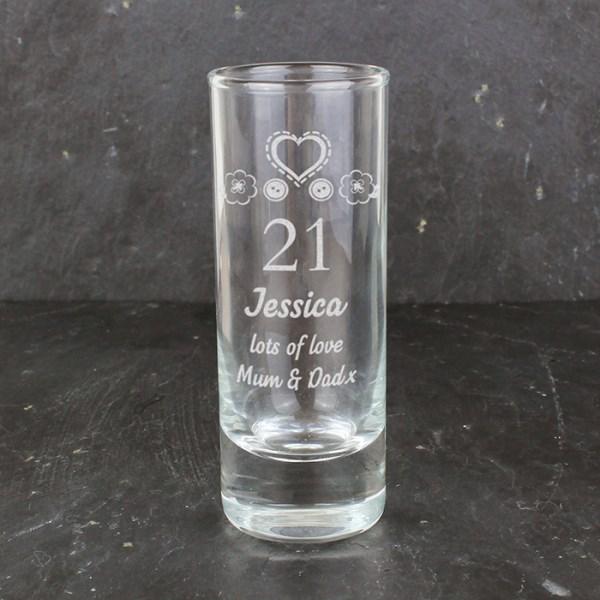 Engraved Birthday Craft Shot Glass