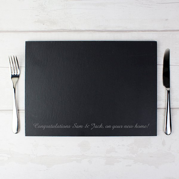Engraved Slate Placemat