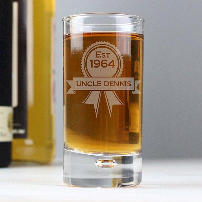 Established Rosette Bubble Shot Glass