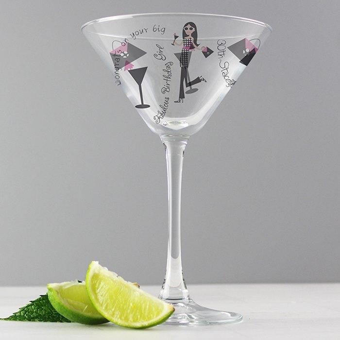 Fabulous Birthday Girl Cocktail Glass