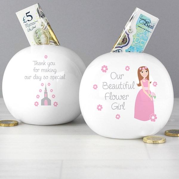 Fabulous Flower Girl Money Box