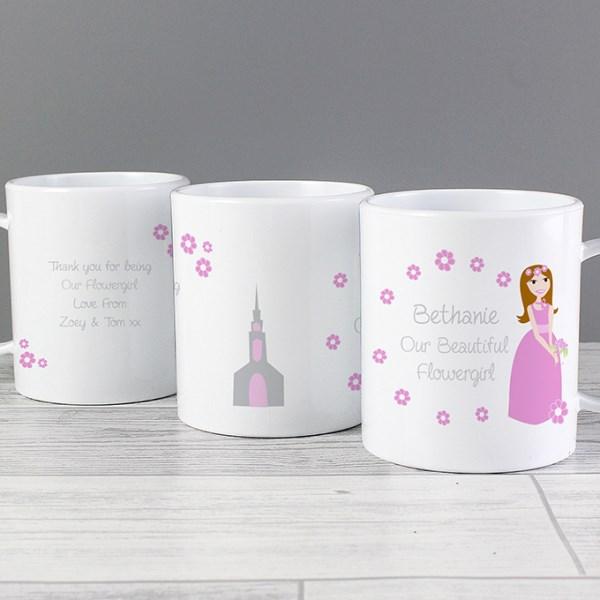 Personalised Fabulous Flowergirl Plastic Mug