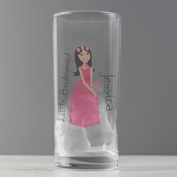 Fabulous Little Bridesmaid/Flower Girl Hi Ball Glass