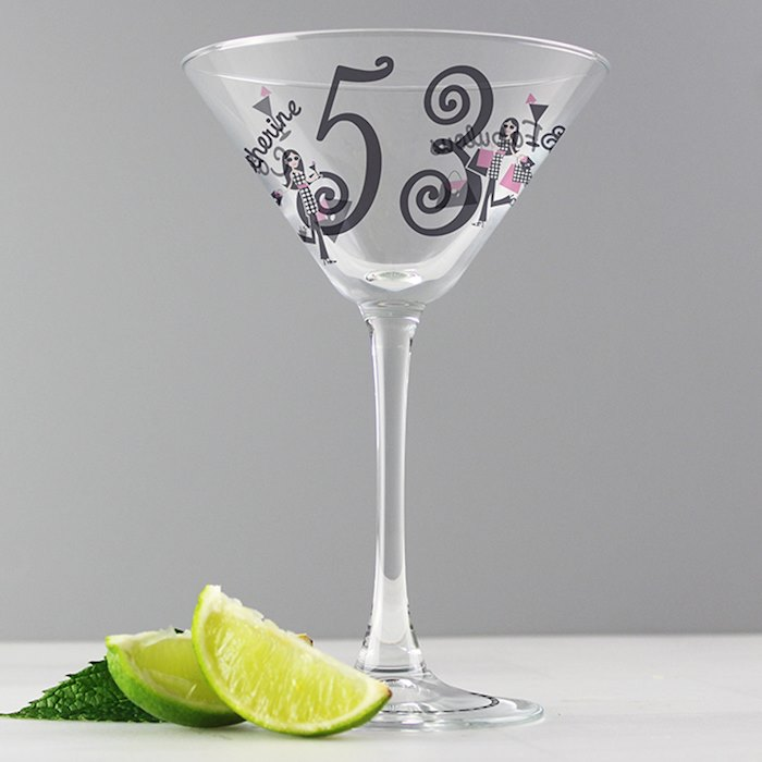 Fabulous Numbers Cocktail Glass