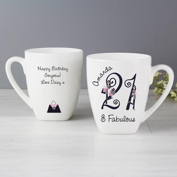 Fabulous Numbers Latte Mug