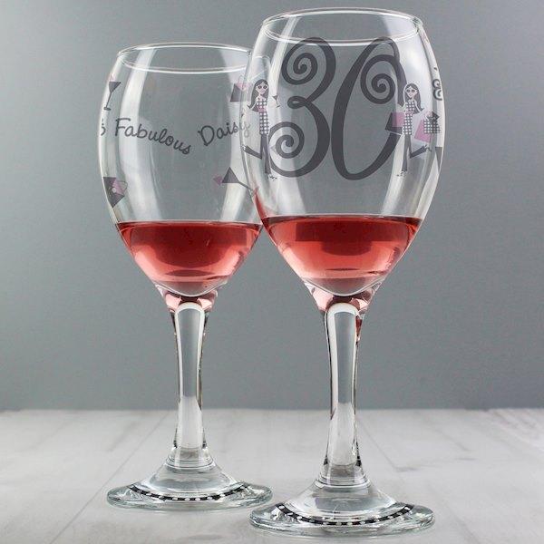 Fabulous Numbers Wine Glass