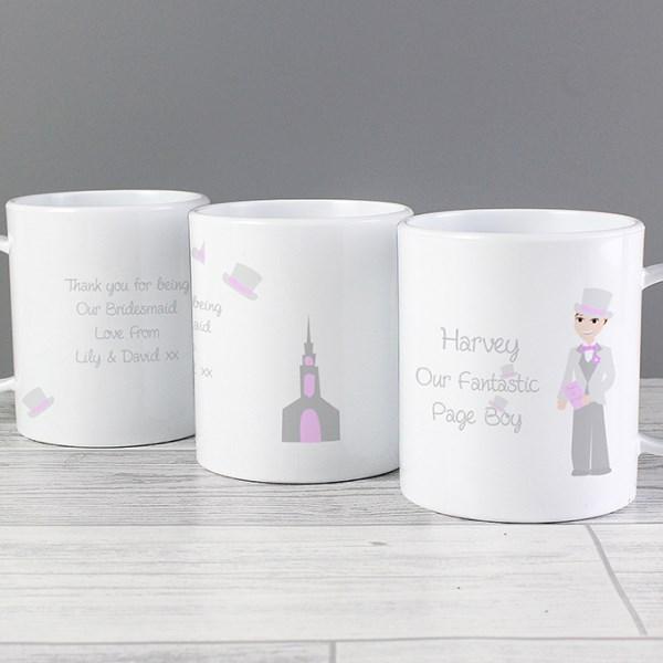 Personalised Fabulous Pageboy Plastic Mug