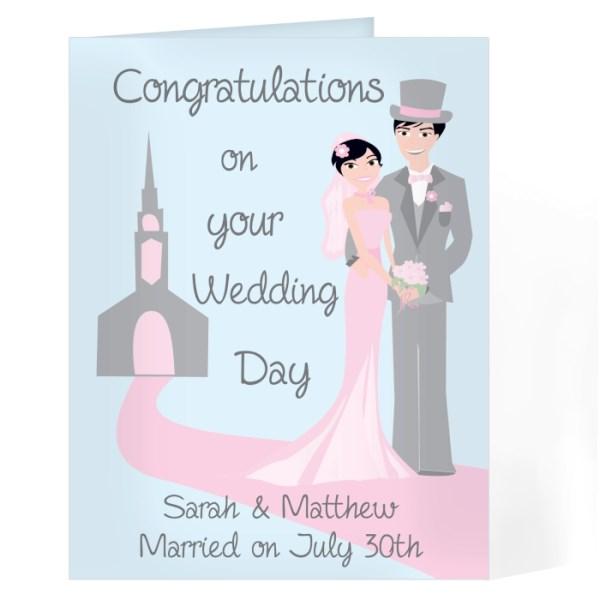 Fabulous Wedding Couple Card