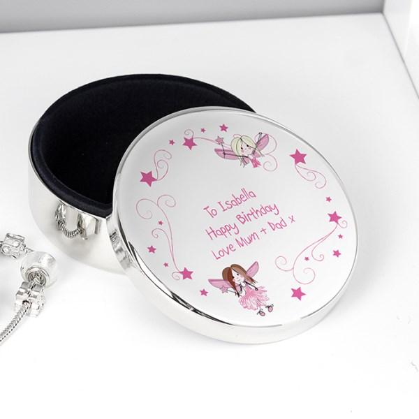 Fairy Round Trinket Box