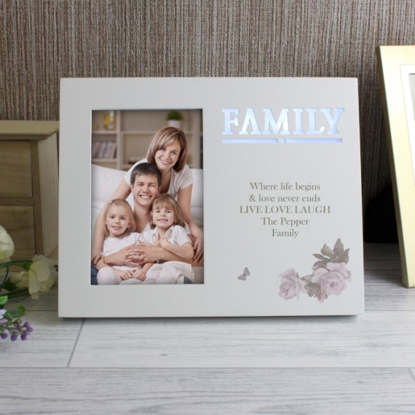 Family Floral 4x6 Light Up Frame