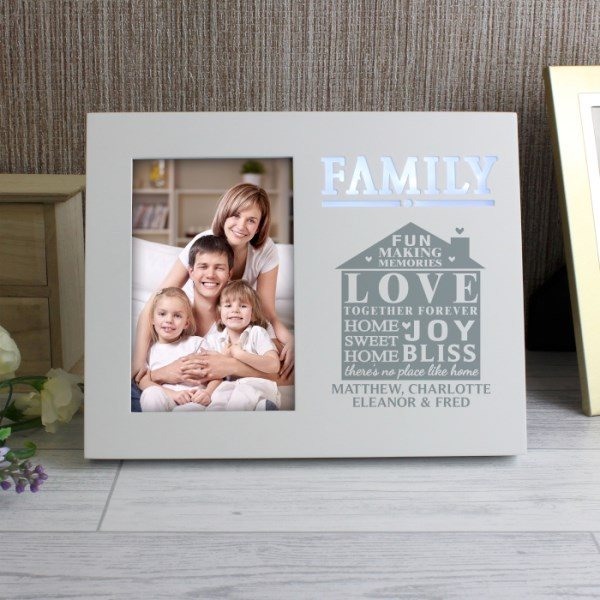 Family Typography 4x6 Light Up Frame