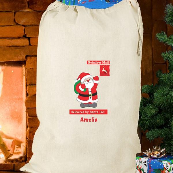 Father Christmas Cotton Sack