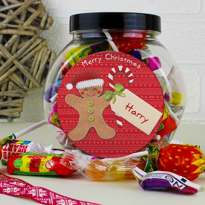 Felt Stitch Gingerbread Man Sweet Jar