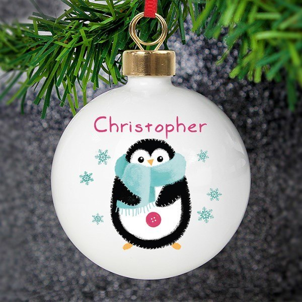 Felt Stitch Penguin Bauble