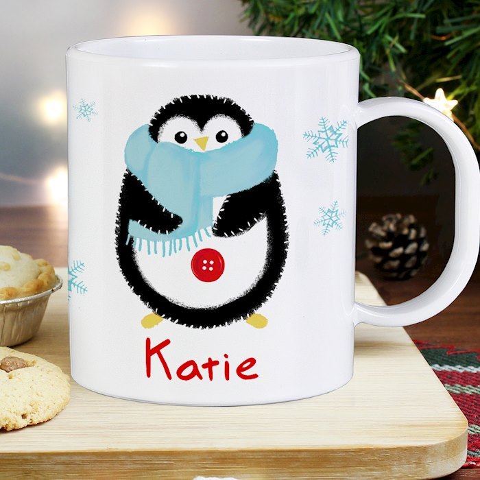 Felt Stitch Penguin Plastic Mug