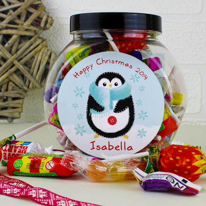 Felt Stitch Penguin Sweet Jar