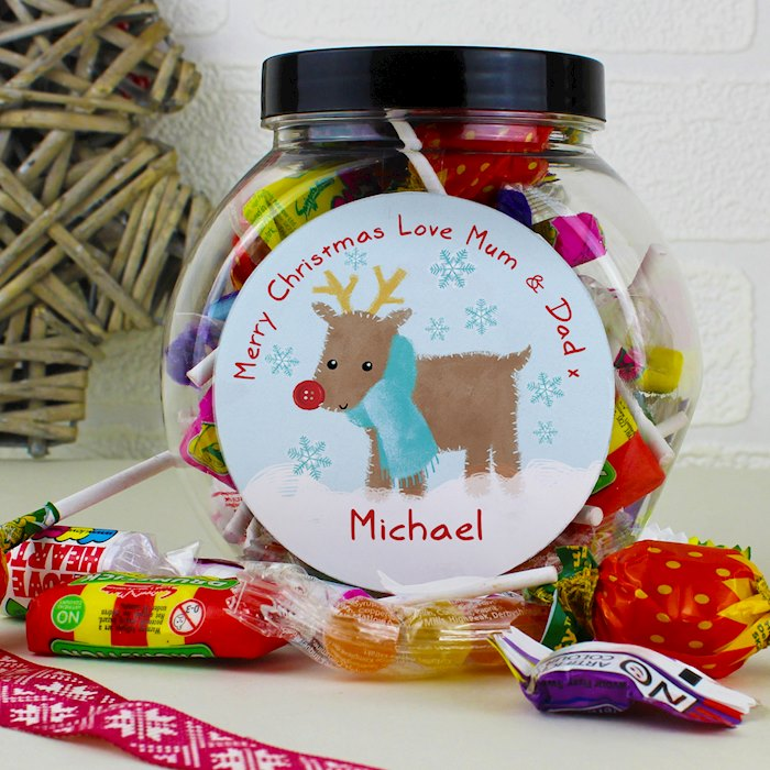 Felt Stitch Reindeer Sweet Jar