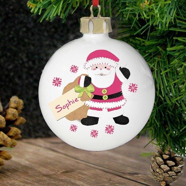 Felt Stitch Santa Bauble