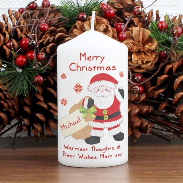 Felt Stitch Santa Candle
