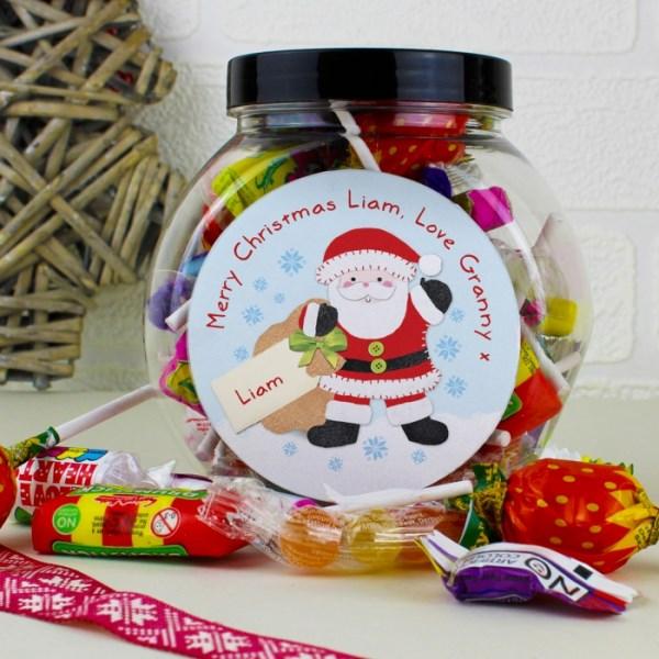 Felt Stitch Santa Sweet Jar