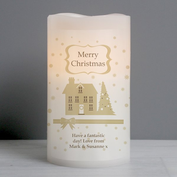 Festive Village LED Candle