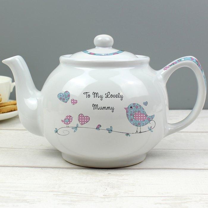 Floral Bird Teapot