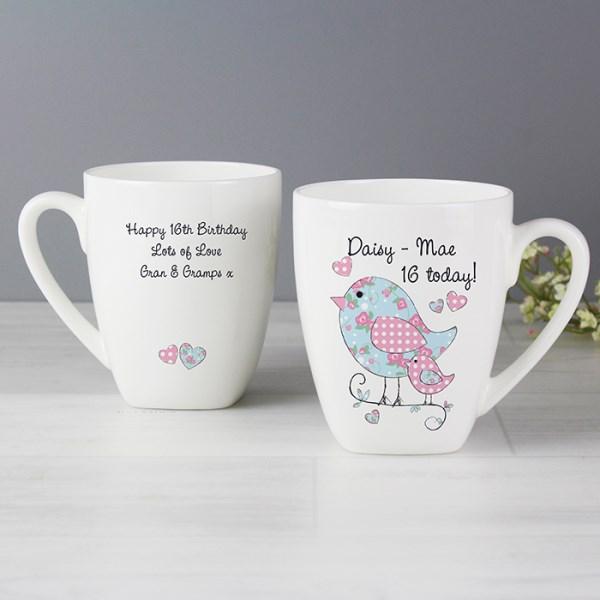 Floral Birds Latte Mug