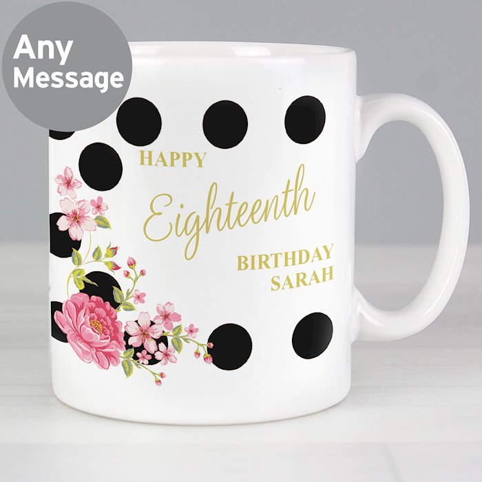 Floral Dot Mug