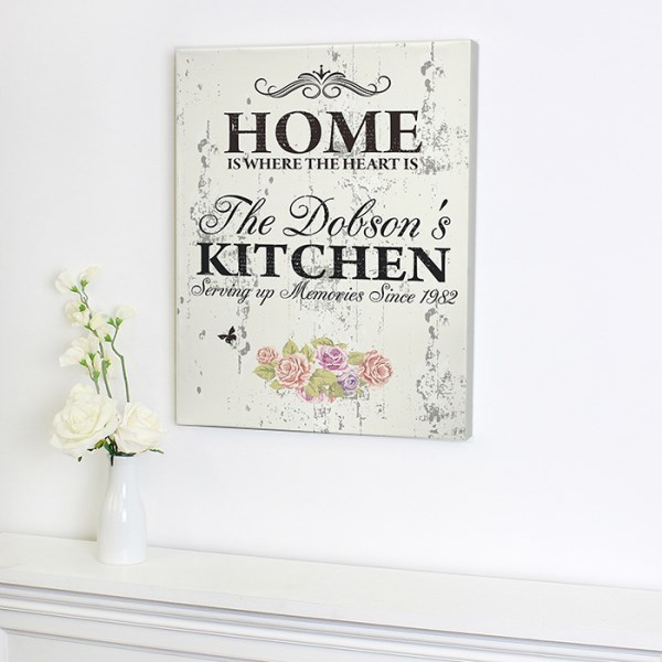 Floral Shabby Chic Canvas
