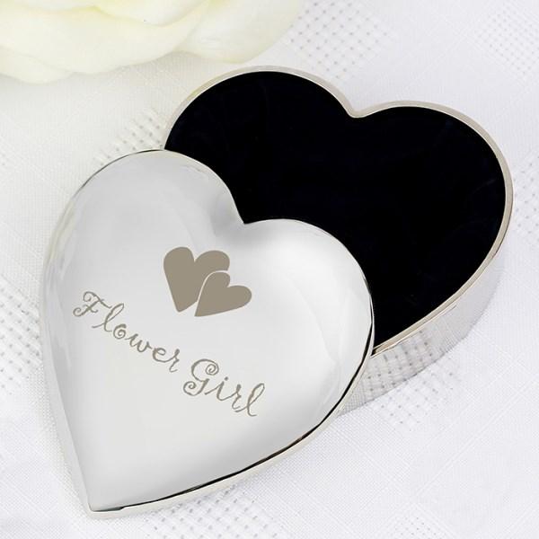 Flower Girl Heart Trinket Box