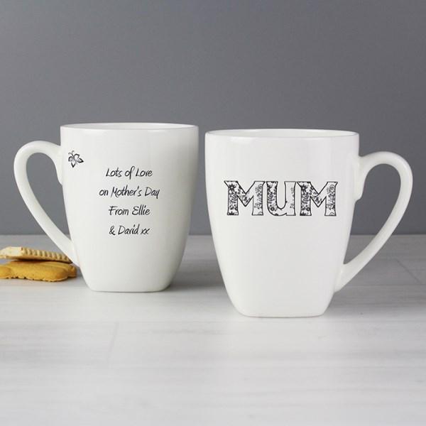 Flower Pattern Latte Mug
