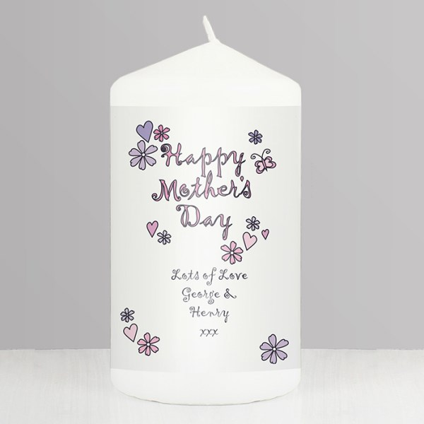 Flowers & Butterflies Happy Mother's Day Candle
