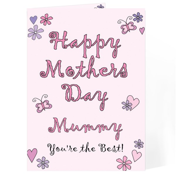 Flowers & Butterflies Happy Mother's Day Card