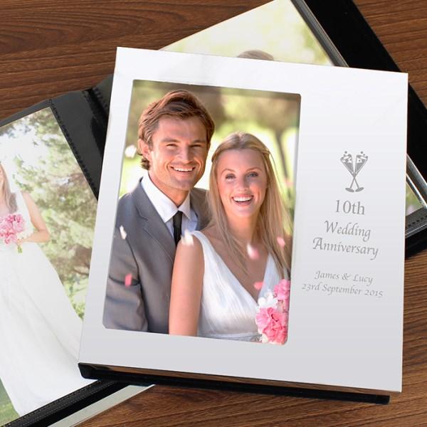 Flute Wedding Anniversary Photo Frame Album 4x6