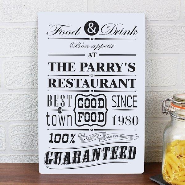 Food & Drink Restaurant Plaque