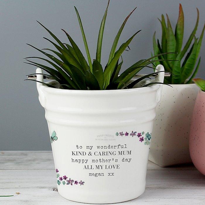 Forget Me Not Porcelain Bucket