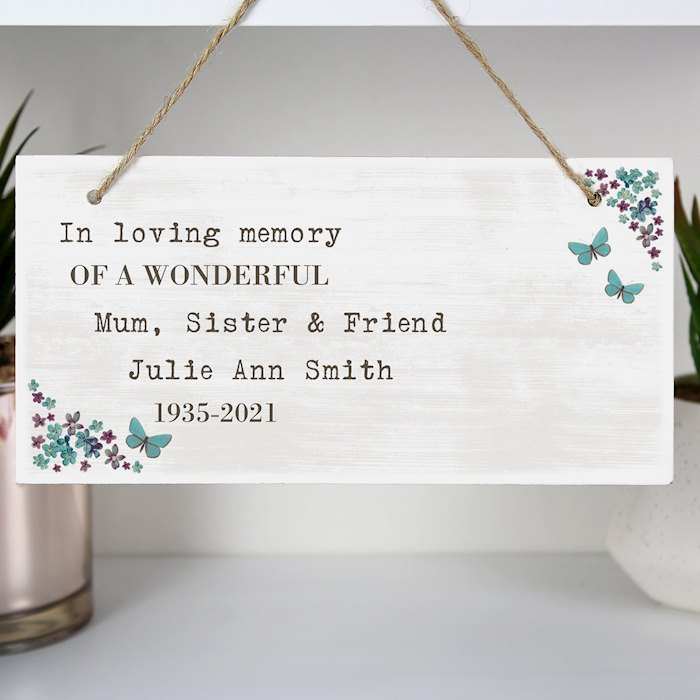 Forget me not Wooden Sign