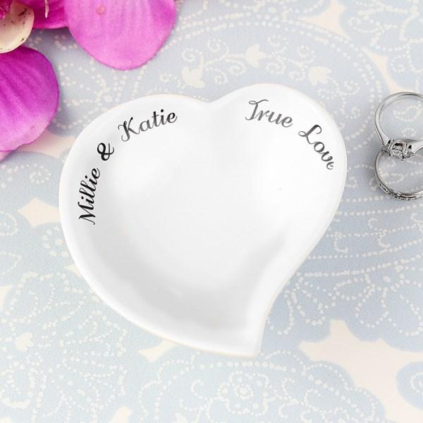 Free Text Ceramic Ring Dish