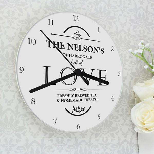 Full of Love Glass Clock