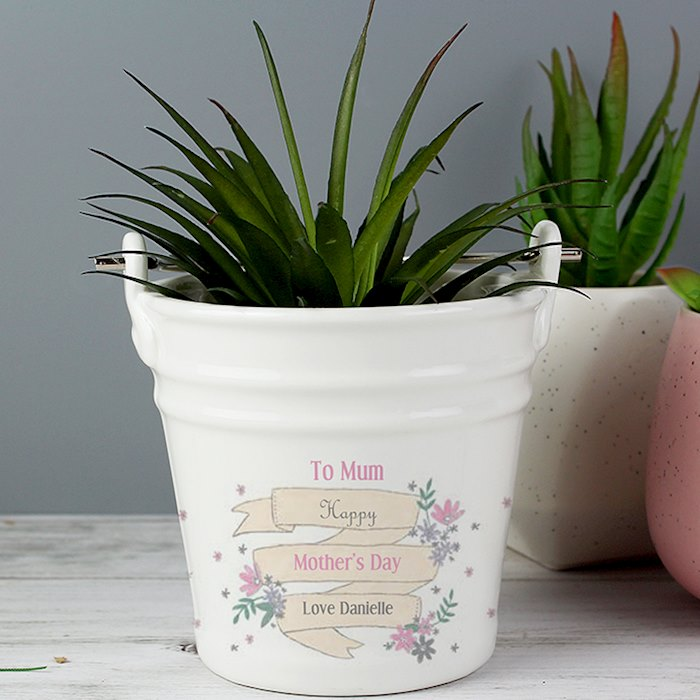 Garden Bloom Porcelain Bucket