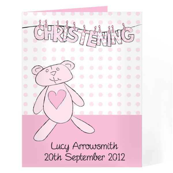 Girl Christening W Line Card