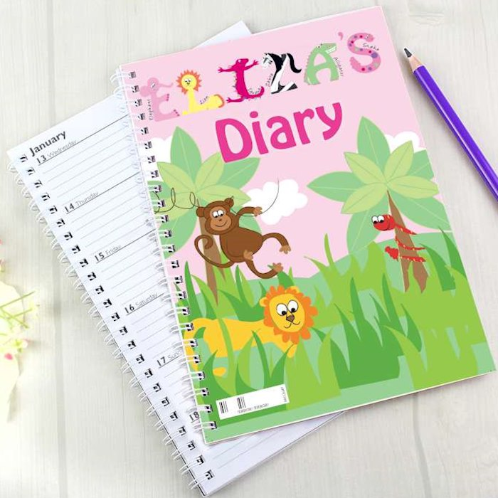 Girls Animal Alphabet A5 Diary