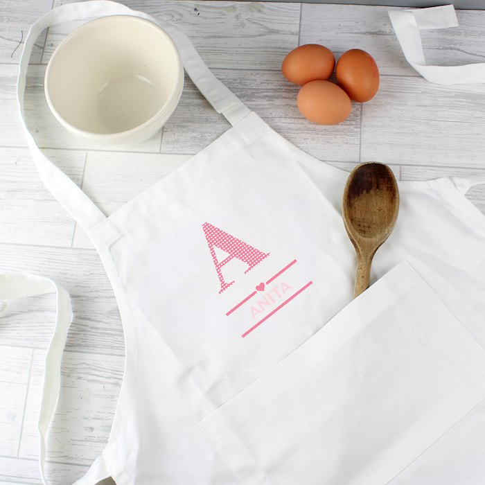 Girls Initial Children's Apron