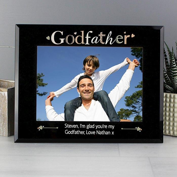 Godfather Black Glass 7x5 Photo Frame
